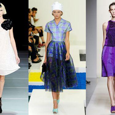 Looks from Emporio Armani, Jil Sander, and Bottega Veneta.