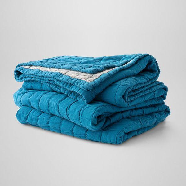 Schoolhouse Channeled Cotton Quilt