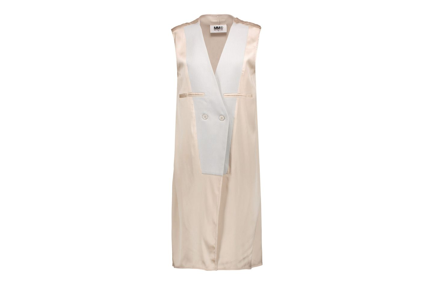 MM6 Martin Margiela woven-paneled satin gilet