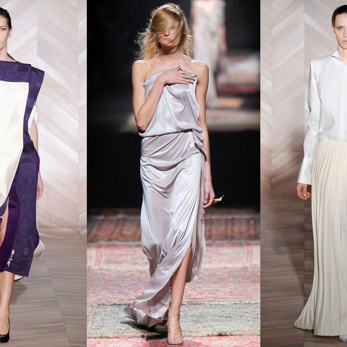 Looks from Maison Martin Margiela's fall and spring 2012 collections.