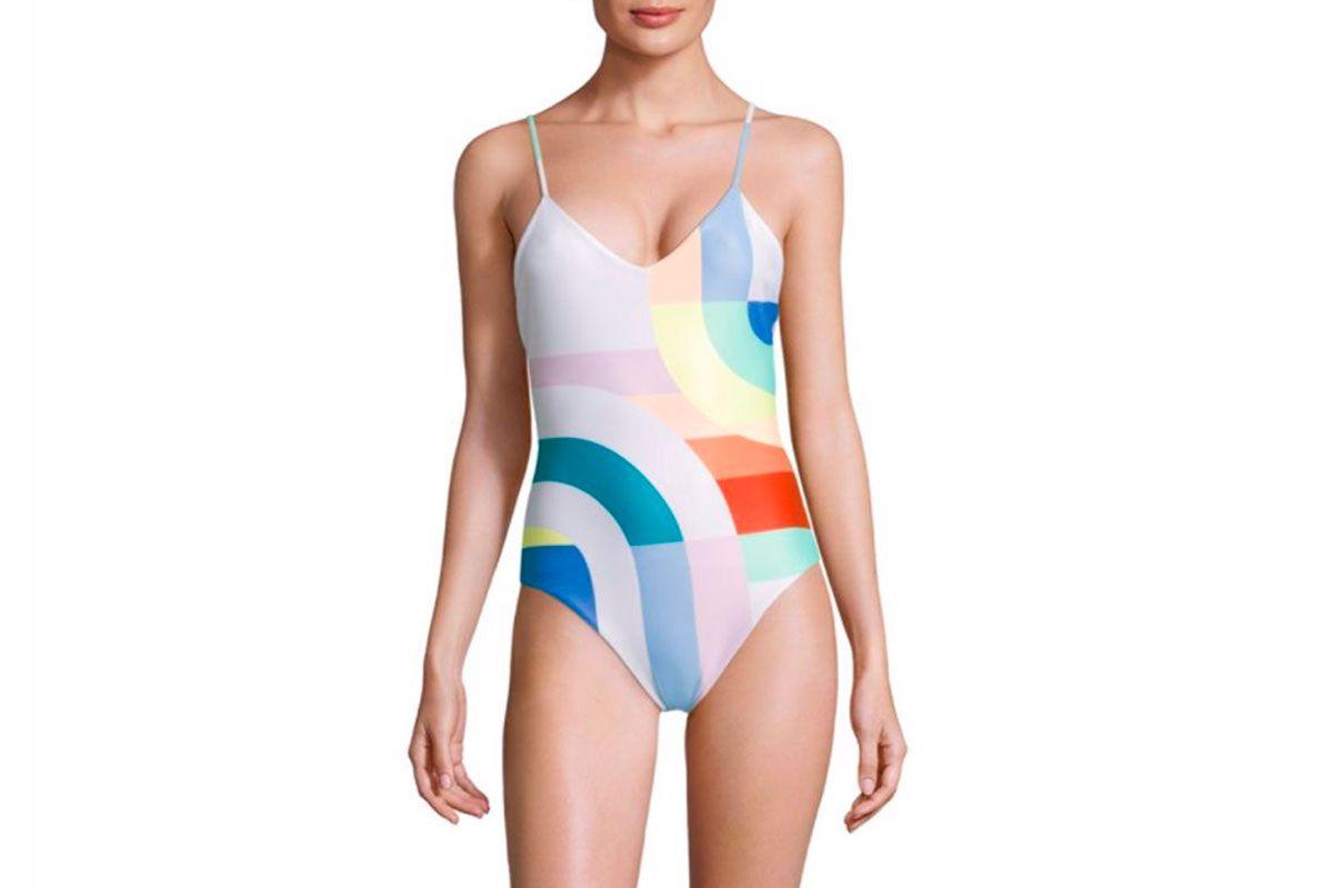Mara Hoffman Meridian Classic One-Piece Colorblock Swimsuit