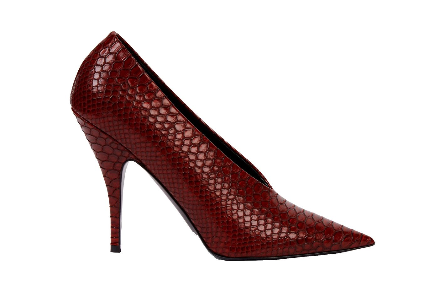 Red Woven Pumps