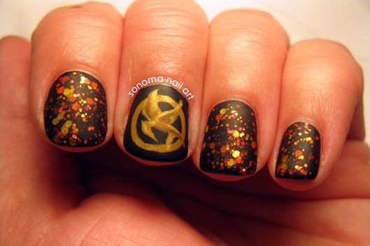 The Best Hunger Games Catching Fire Nail Art Vulture