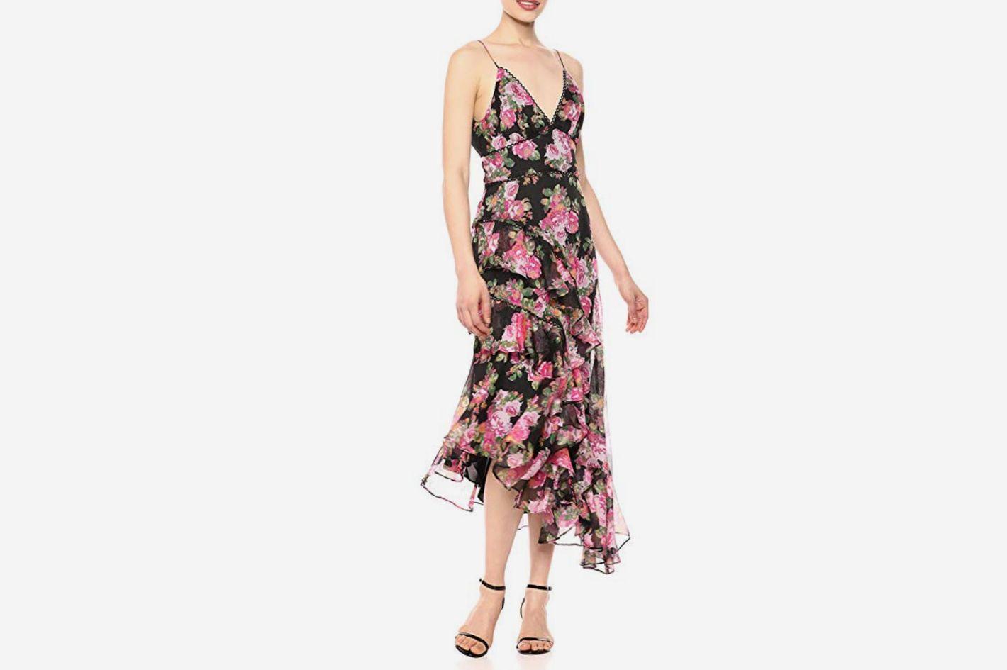 Keepsake The Label Women's Oblivion Sleeveless Asymmetrical Long Midi Dress