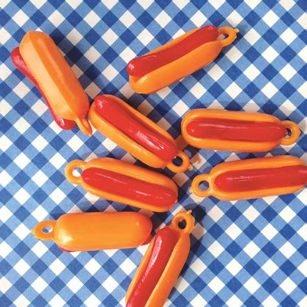 Hot Dog Plastic Fast Food Charms