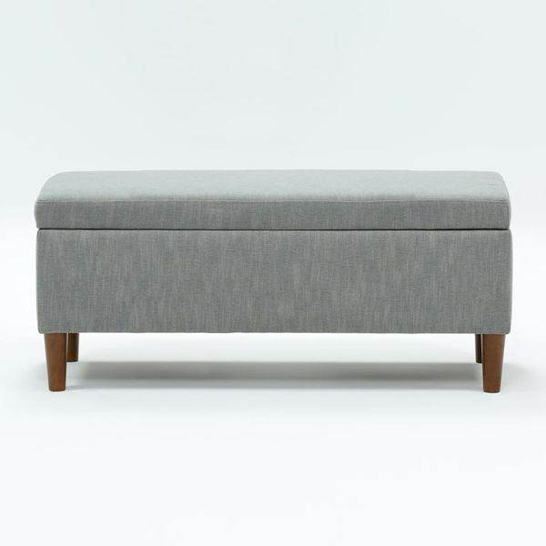 Living Spaces Dean Charcoal Storage Bench