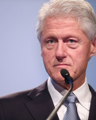WASHINGTON, DC - JULY 27: Former U.S. President Bill Clinton delivers closing remarks at the International AIDS Conference at the Walter Washington Convention Center July 27, 2012 in Washington, DC. This is the 19th annual international gathering of 'policy makers, persons living with HIV and other individuals committed to ending the pandemic.' Leaders in the fight against HIV/AIDS -- including Bill Gates, UNAIDS Executive Director Michel Sidib?, Elton John and U.S. Secretary of State Hillary Rodham Clinton -- also addressed the conference. (Photo by Chip Somodevilla/Getty Images)