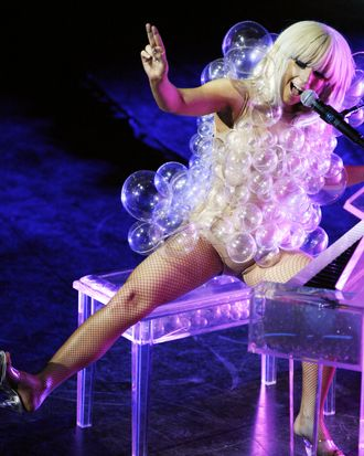 BOSTON, CA - MAY 04: Lady Gaga performs at The GRAMMY Celebration Concert Tour presented by T-Mobile Sidekick at House of Blues in Boston, MA on May 4, 2009. (Photo by Chris Polk/FilmMagic)
