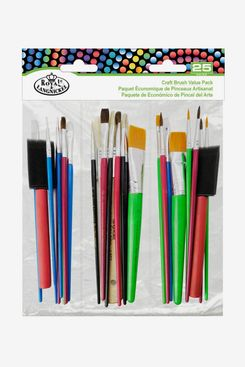 Royal & Langnickel Craft Brush Value Pack, 25 Pieces
