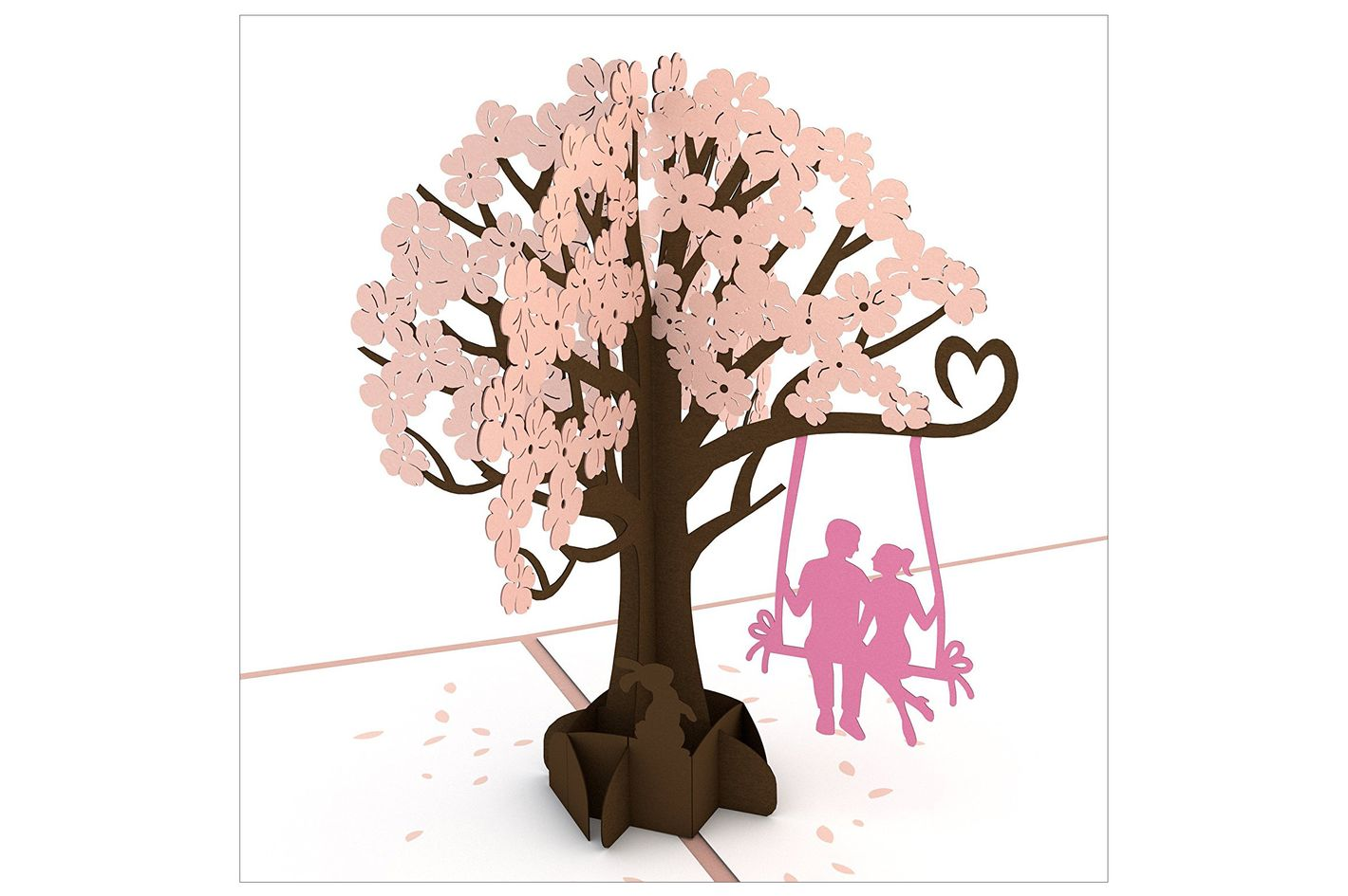 Lovepop Lovers in Dogwood Tree Pink Valentine's Day Card