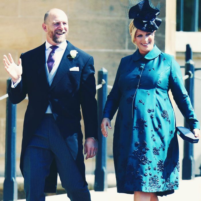 Mike and Zara Tindall.