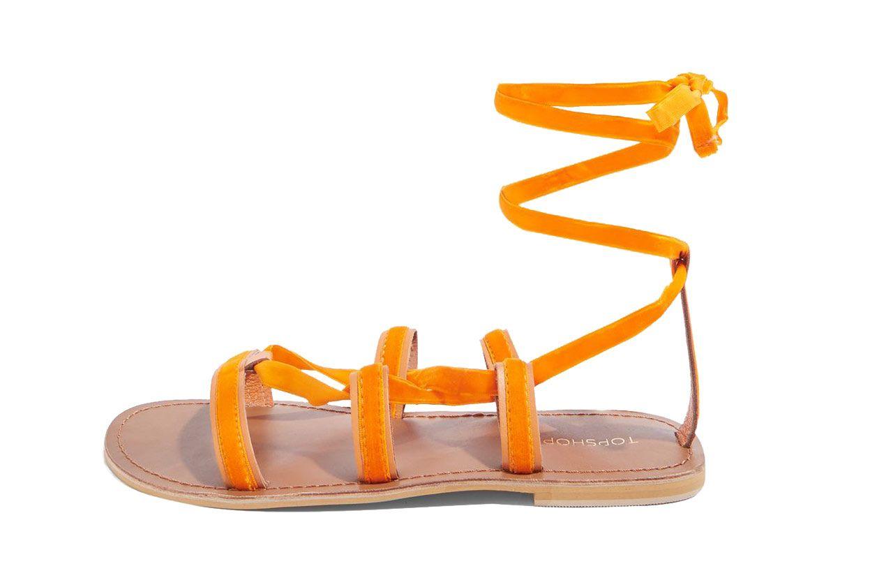 Hacienda Velvet Ribbon Sandals