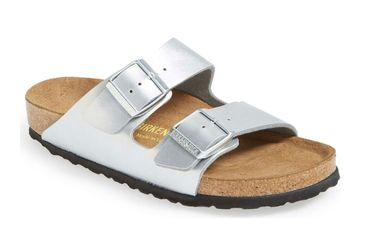 all white birkenstocks