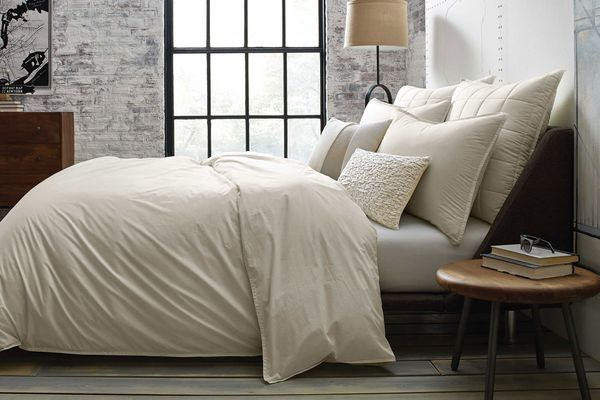 Kenneth Cole Escape Duvet Cover in Stone, Full/Queen