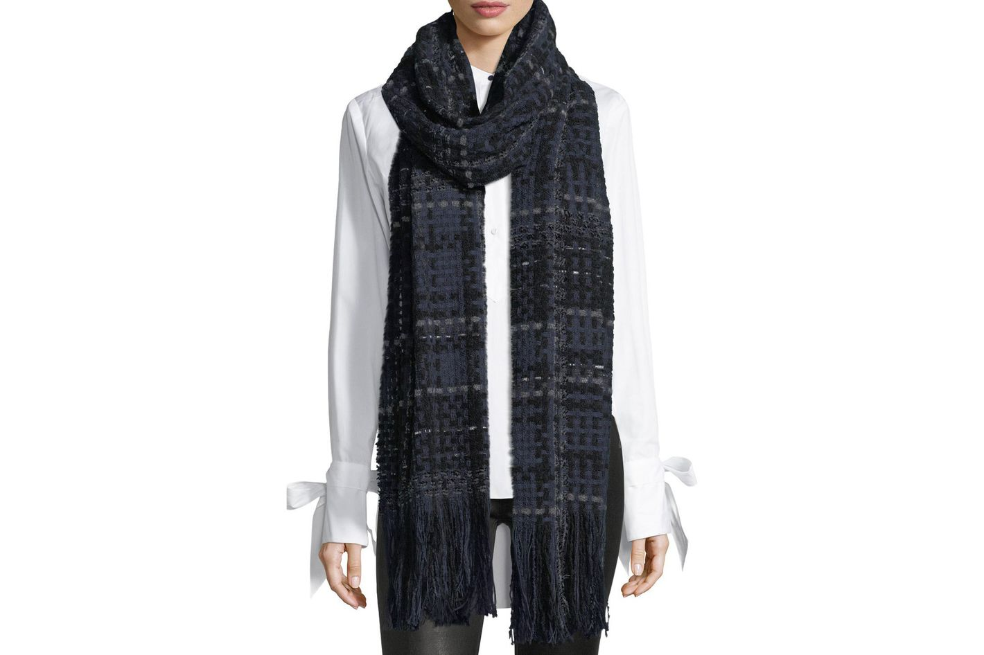 Rag & Bone Linton Tweed Scarf With Fringe