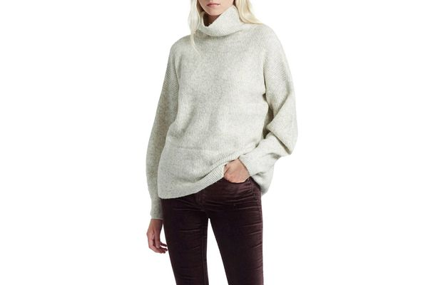 FRENCH CONNECTION Urban Flossy Turtleneck Sweater