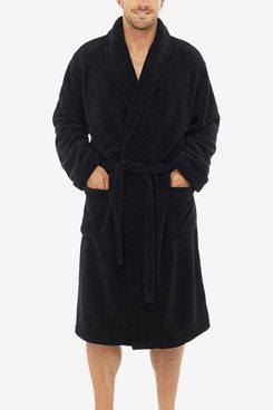 Pierre Roché Mens Luxury Soft Coral Fleece Dressing Gown