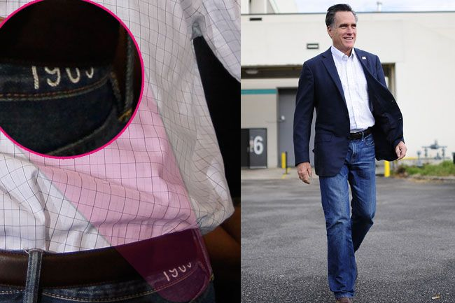 Mitt and his pants.