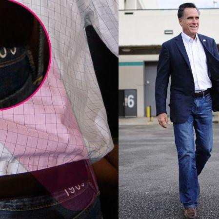 Mitt and his pants.