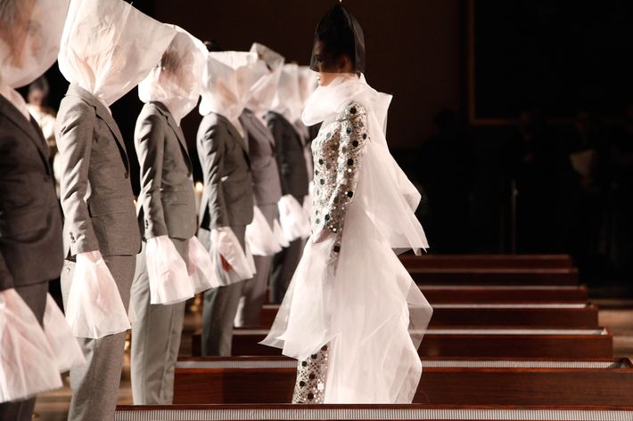 Looks from Thom Browne's fall 2012 show.
