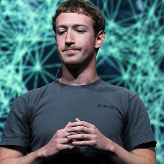 Facebook CEO Mark Zuckerberg pauses as he delivers a keynote address during the Facebook f8 conference on September 22, 2011 in San Francisco, California. Facebook CEO Mark Zuckerberg kicked off the conference introducing a Timeline feature to the popular social network.