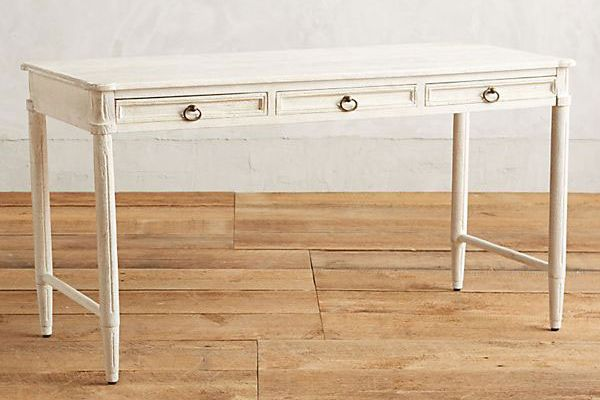 Anthropologie Washed Wood Desk