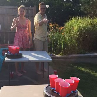 roomba beer pong