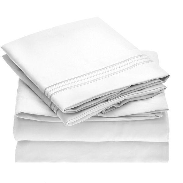 Mellanni Bed Sheet Set — Brushed Microfiber 1800 Bedding