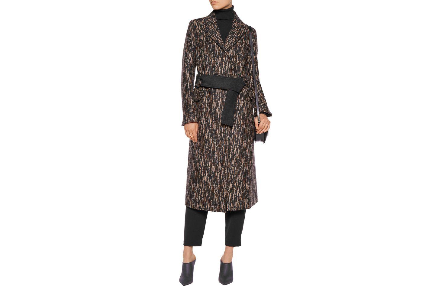3.1 Phillip Lim slim printed wool-blend coat