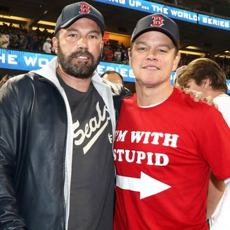 ben affleck matt damon boston red sox