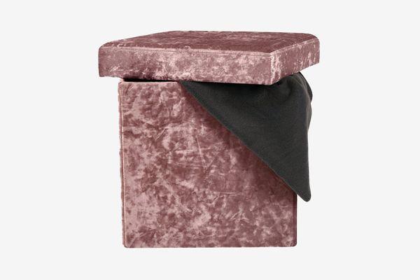 Dormify Single Folding Crushed Velvet Ottoman