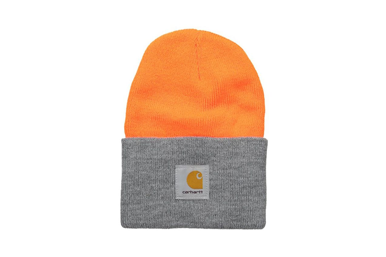 Carhartt Watch Hat A18 — Bright Orange/ Heather Grey