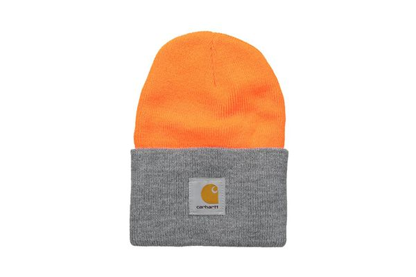Carhartt Watch Hat A18 — Bright Orange/ Heather Grey