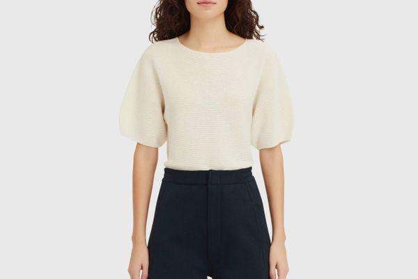 Women U Balloon Half-Sleeve Sweater