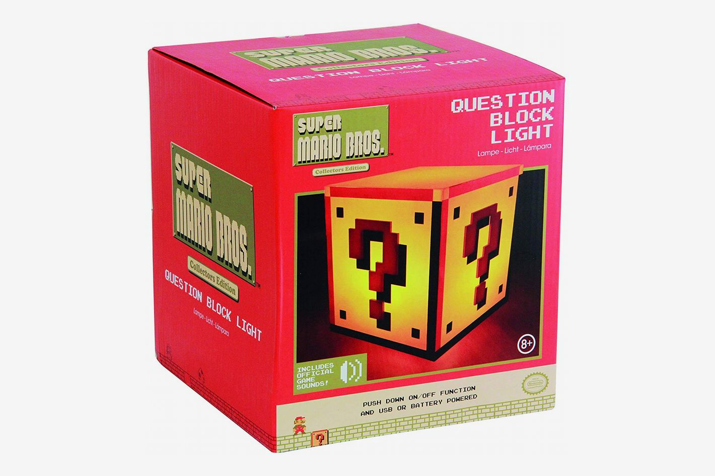 Paladone Super Mario Brothers Question Block Night Light