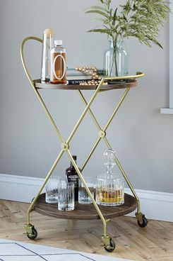 Nathan James Mid-Century Bar Cart