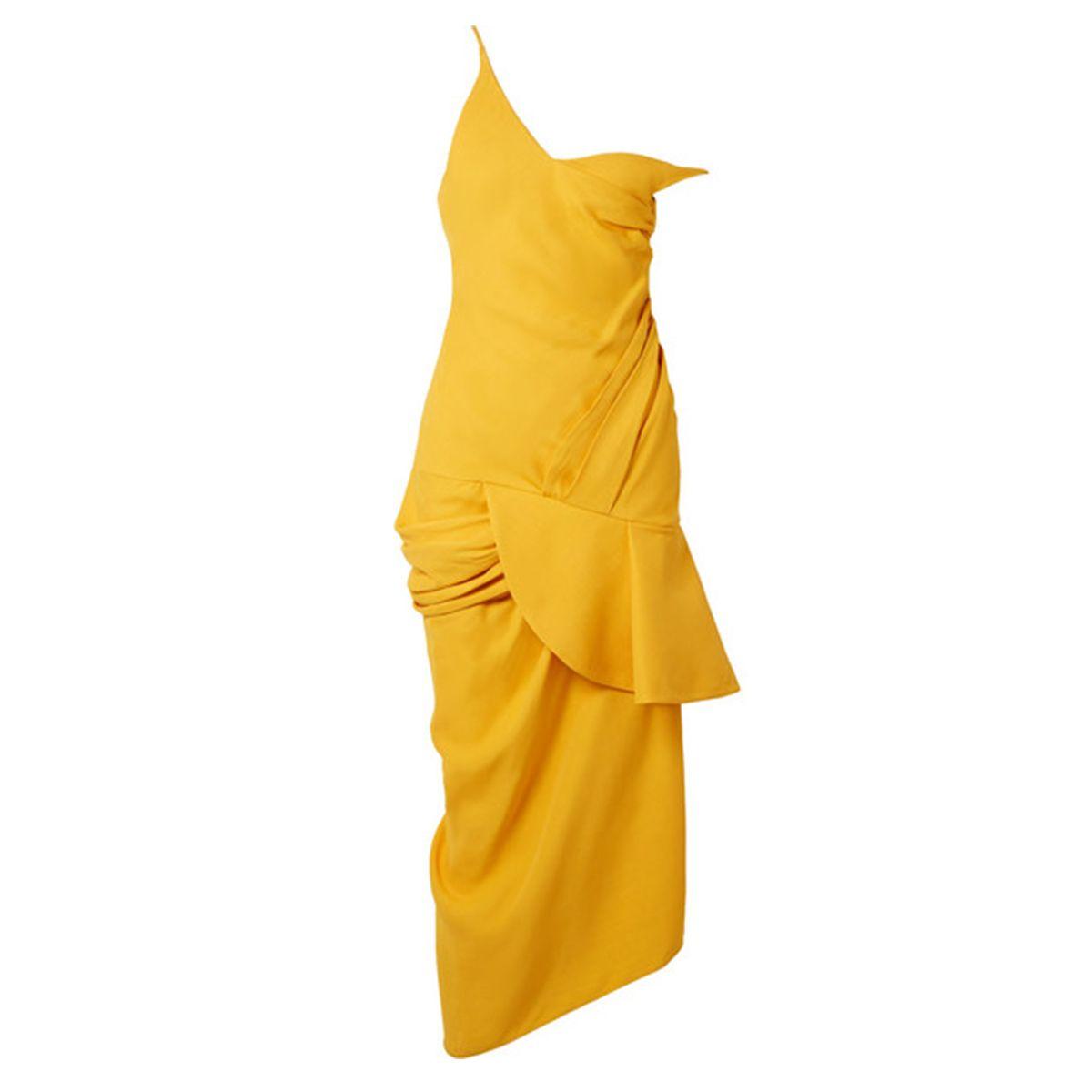 La Robe Sol off-the-shoulder ruffled canvas midi dress