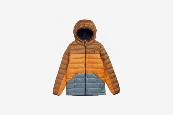 Patagonia Water Repellent Reversible Down Sweater Hoodie (Little Boys & Big Boys)