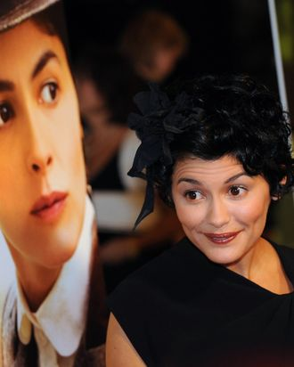 Audrey Tautou at the 2009 premiere of 'Coco Before Chanel.'