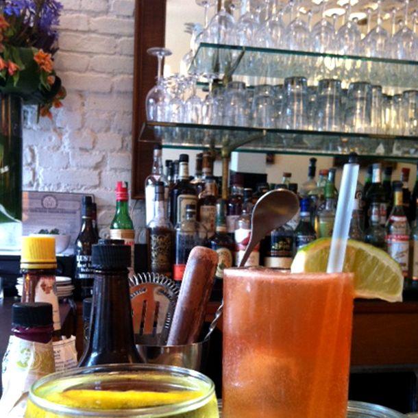 Cocktails at Zoë.