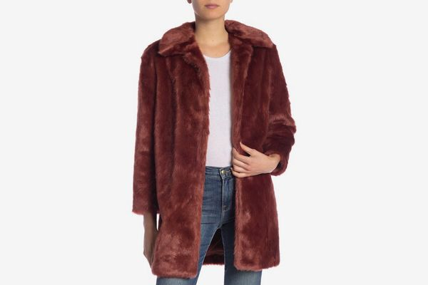 Frame Denim Faux Fur Coat