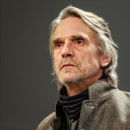 07 Mar 2013, Brussels, Belgium --- Brussels, Belgium. 7th March 2013 -- British actor Jeremy Irons during a talk about the plastic wastes at the EU Commission. -- British actor Jeremy Irons was invited by EU Commissioner Potonik to talk about plastic wastes in the world. He added his voice to an EU campaign to ban non-recylable plastics, including plastic bags. --- Image by ? Olivier Vin/Demotix/Corbis