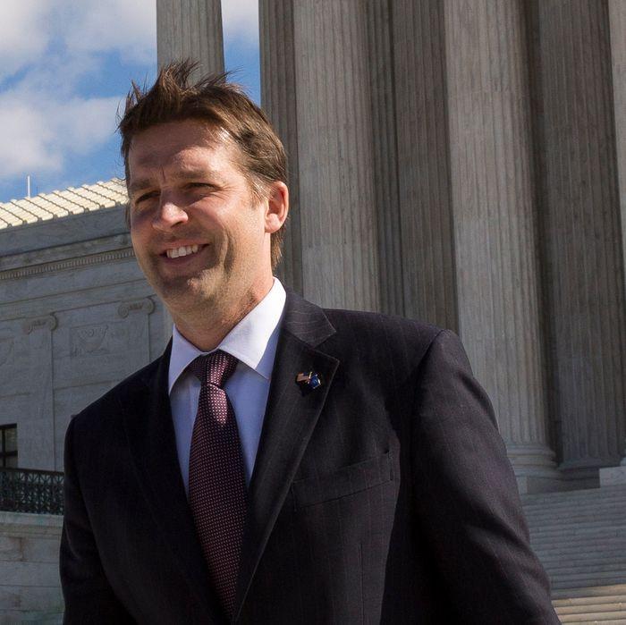 GOP senator Ben Sasse outside the Supreme Court.