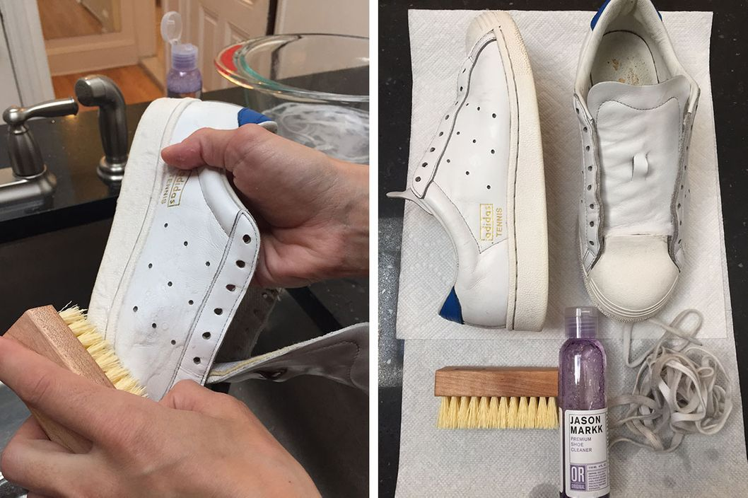 The BEST way to clean white shoes - YouTube