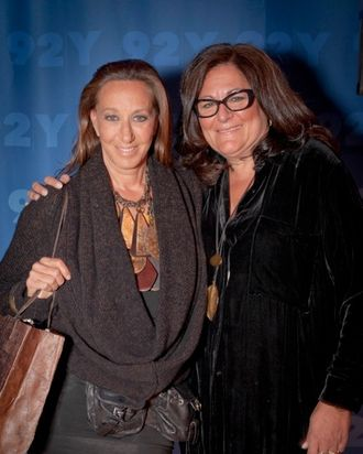 Donna Karan and Fern Mallis.