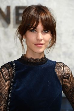 Alexa Chung attends the Chanel show as part of Paris Fashion Week Haute-Couture Fall/Winter 2013-2014 at Grand Palais on July 2, 2013 in Paris, France.