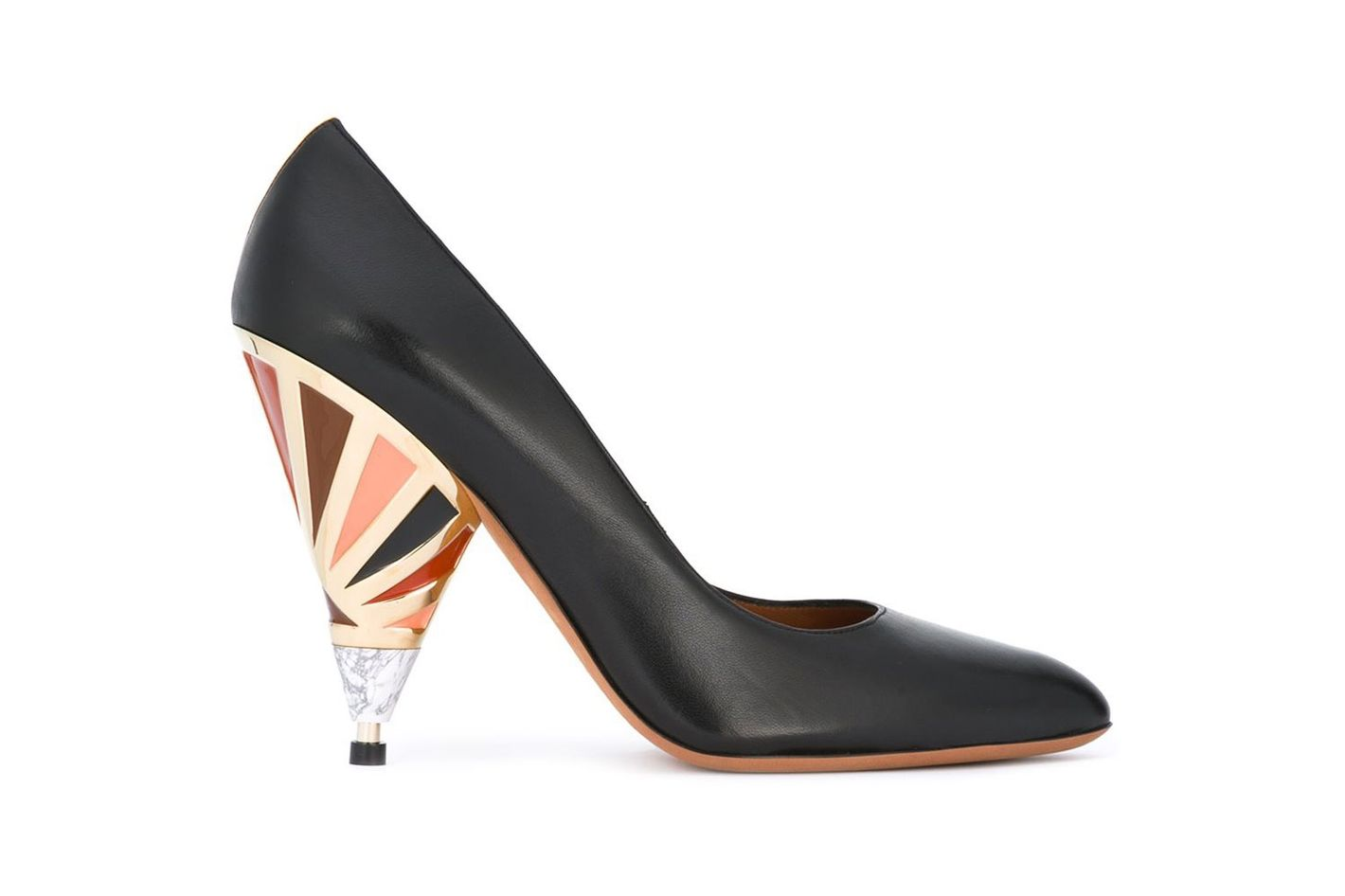 Givenchy lacquered heel pumps