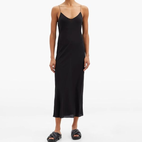 Raey Thin Strap Silk Crepe de Chine Slip Dress