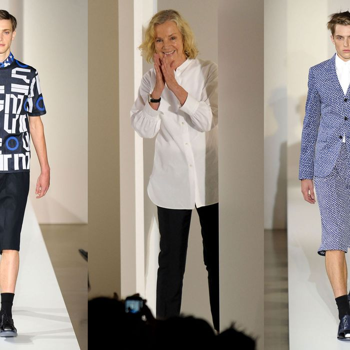 Jil Sander, plus looks from her spring 2013 menswear collection.