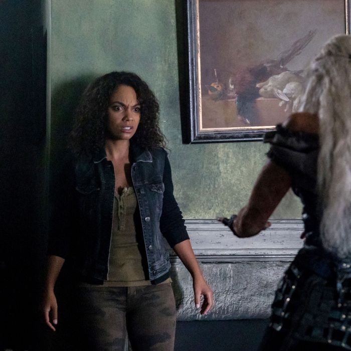 SLEEPY HOLLOW: (L-R) Nicole Beharie and guest star XXX in the